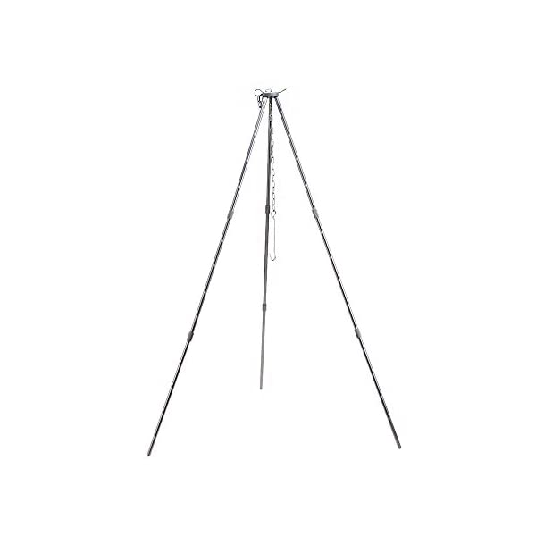 Lixada Outdoor Cooking Tripod and 5L Outdoor Hanging Pot Cooking Aluminum for 4-5 People Camping Bonfire Party for Camping Picnic with Storage Bag 5