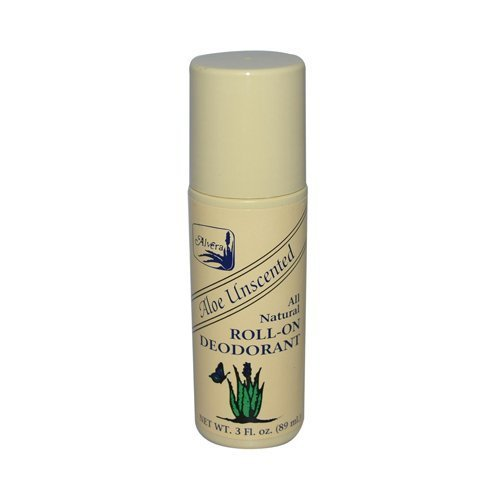 Alvera All Natural Roll-On Deodorant Aloe Herbal -- 3 fl oz by Alvera (Alvera Aloe)
