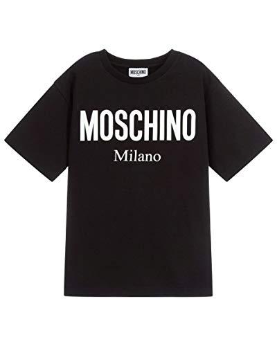 Moschino t-shirt con logo unisex, 12 anni (152cm), nero