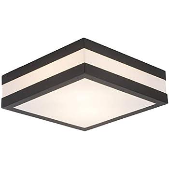 E27 Rabalux 8716 Raba Lux lampe d'extérieur Oslo Noir 24 x 24 x 21,5 cm Métal Plastique