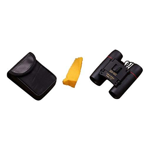 Prismáticos pequeños Plegables Mini prismáticos 30X60 HD Gran Angular Portátil Binoculares de Bolsillo de visión Nocturna de bajo Nivel de luz