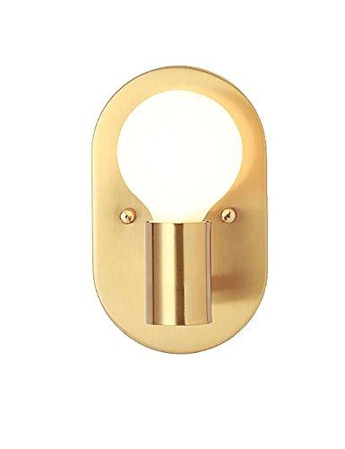 Lampada da parete lampada da comodino camera da letto in metallo ovale creativo semplice lampada da parete del corridoio del corridoio moderno, 12 * 20 cm