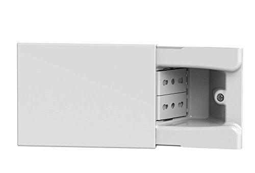 4Box 4B.01.014 Presa a Scomparsa per Scatola da Incasso a 3 Moduli Completa, Bianco