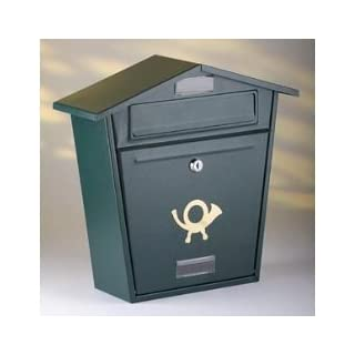 Aboria Steel Plate Post Box Black (104329)