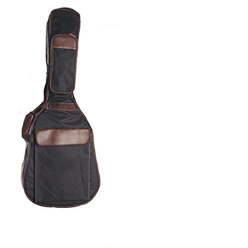 joyliveCY Fixed Headstock Double Straps PU Canvas 41 Zoll Gig Bag Schutzhülle Gepolstert für Volksakustikgitarre 109cm