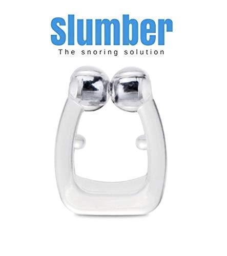 SLUMBER- Der Schnarchstopper + 1 GRATIS |Das ORIGINAL Gegen Schnarchen | Premium Anti-Schnarch Clip | Clevere Erfindung | Schnarchstopp | Magnet Nasen-Clip mit Aufbewahrungsbox|