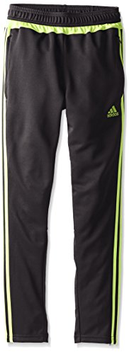 Adidas Youth Tiro 15Training Hose, Jungen, Black/Semi Solar Slime