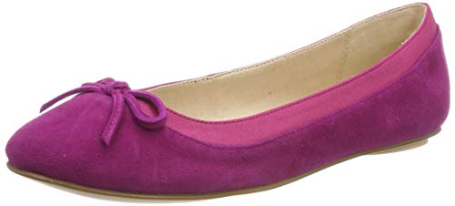 Buffalo Damen ANNELIE Geschlossene Ballerinas, Pink (Fuchsia 000), 39 EU Fuchsia Damen Schuhe