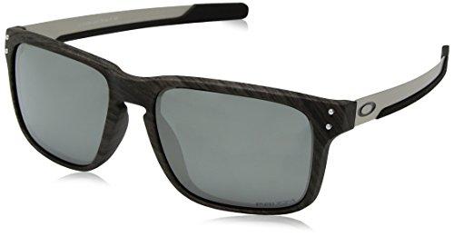 Oakley Herren Holbrook Mix 938404 Sonnenbrille, Schwarz (Woodgrain), 57