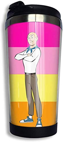 Zjipeung The Venture Brothers Kaffeetassen Edelstahl Wasserflasche Tasse Reisebecher Kaffeebecher mit auslaufsicherem Deckel