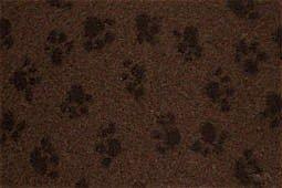 hundeinfo24.de Hundedecke, Thermodecke Braun / Schwarze Pfötchen, antirutsch, Florhöhe 30 mm, Größe 100 x 75 cm