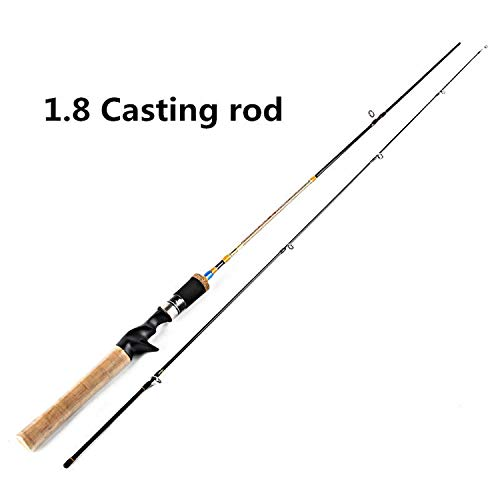 Goods-Store-uk Fishing Rods Sec 2 Kohlenstoff-Köder wt. 2 8g Angelrute 1,68 M / 1.8M UL Power-Köder-Spinnrute Schnell Ultraangelrute Casting, Burgund