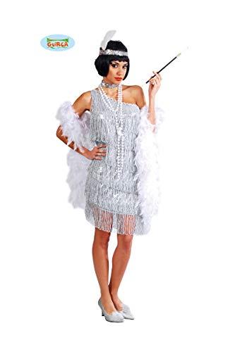Guirca Costume Charleston Anni '20/'30, Colore Argento, Taglia Unica 80488
