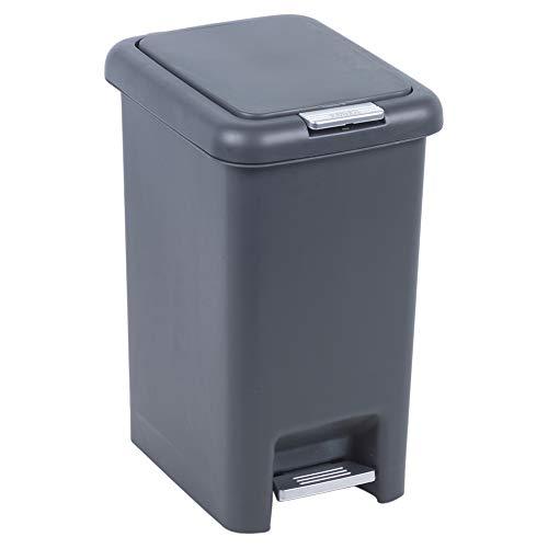 Square Schwarz-creme (URBNLIVING Abfalleimer aus Kunststoff für Müll, Müll, 50-6,5 l, erhältlich in quadratischen oder ovalen Farben in Creme oder Schwarz 30l Square Bin (Cream))