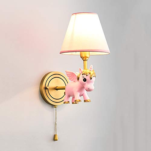 Dkdnjsk Lampe de mur source créatrice animal résine tricolore GB H65 fine base de cuivre durable E14 source de lumière salon chambre étude murale