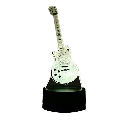 KangYD 3D Nachtlicht/Bassgitarre 3D Rgb Led Nachtlicht/Schreibtischlampe Geschenk Wohnkultur/Fernbedienung 7 Farbe