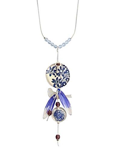 Lalo Treasures Damen-Kette mit Anhänger The Birds & Beads Edelstahl Resin 80 cm-95125.0