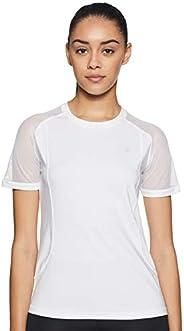 Amazon Brand - Symactive Women's Solid Regular Fit T-S