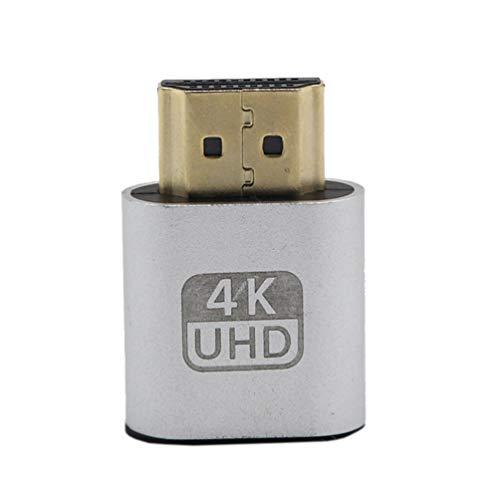 Kinshops VGA HDMI Dummy Plug Adaptador de emulador de Pantalla Virtual DDC...