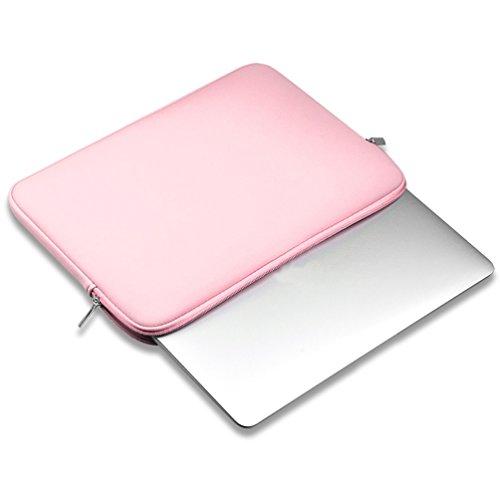 YiJee Sleeve per Laptop Impermeabile Custodia di Borsa per Portatile Caso Protettiva 14 Pollice Pink