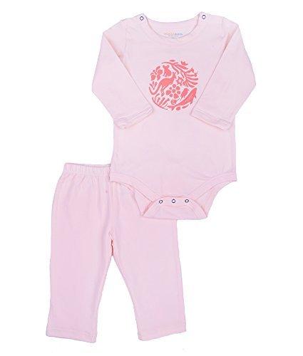 Oceankids Baby Mädchen 'Rosa Overall Neugeborenen Kleinkind Spielanzug Langarm 9M 6-9 Monate (Kinder-fleece Lands End)