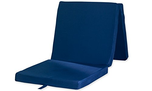 Matratzendiscount Klappmatratze Marine Blau uni 65x195 Faltmatratze / Klappmatratze - Made in Germany - als Gästebett / Gästematratze, Oeko-Tex Standard 100, Prüf-Nr. 10.0.82310, Bezug abnehmbar, waschbar und trocknergeeignet