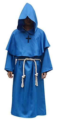 RHSML Halloween Priest Costume, EIN Set bestehend aus Zwei Cosplay-Kostümen für Erwachsene, Halloween Handsome Horror - Kostüm Sorciere Halloween