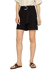ESPRIT Collection Damen 049EO1C001 Shorts, Schwarz (Black 001), W(Herstellergröße: 34)