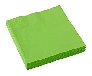 amscan Paquete de 20 servilletas Grandes, Papel, Verde Claro