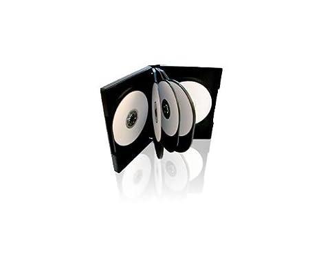 CD/DVD Boitier avec plateau noir peut contenir 12 disques Pack