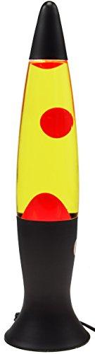ChiliTec Lavalampe Lava Leuchte 40cm 230V Leuchtmittel (Schwarz, rotes Wachs gelbes Wasser)