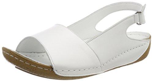 Andrea Conti Damen 0025782 Offene Sandalen, (Weiß), 38 EU