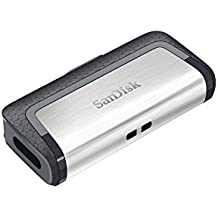 Memoria flash USB doble SanDisk Ultra de 256 GB con USB 3.1 Type-C