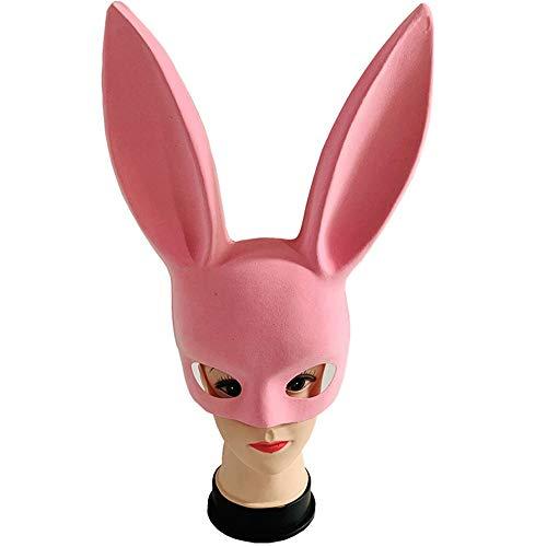 Masquerade Mask Augenmaske Männliche und weibliche Maske Erwachsene Rollenspiele Runde lange Ohr Perücke Party Cosplay Nachtclub Maske for Abend Prom Halloween Mardi Gras Halloween Mardi Gras - Mardi Gras Kostüm Männlich