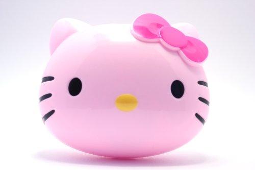 Kontaktlinsenbehälter Aufbewahrungsbehälter Etui Set Spiegel Hello Kitty Schleife NEU (Pink)