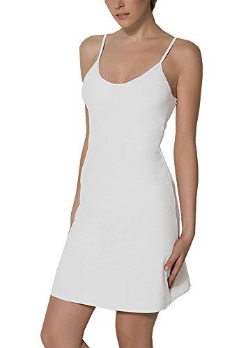 BALI Lingerie - Damen Kurz Unterkleid - 1010 (S, Weiß)