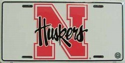 (6 x 12) Nebraska Corn Huskers NCAA Dose License Plate