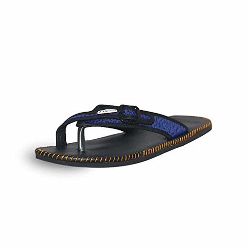 Feurick Men's Blue PU Slippers-10