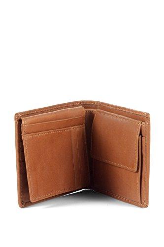 ESPRIT aus Echtleder 084EA2V007 Herren Geldbörsen 12x10x1 cm (B x H x T) Braun (COGNAC 896)
