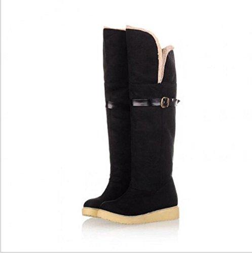 Carteggiatura casual fibbia cinghie calzature doposci caldo black