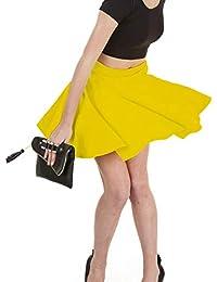 b2657dcb4 Papaval Kids Girls Nylon Lycra Plain Flared Circular Skirt Size 2-14