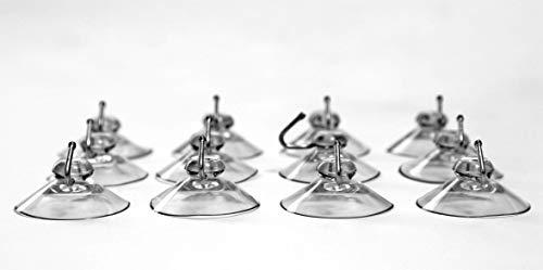 CAMAYER 12x Haken mit Saugnapf extra stark PVC weich Made IN Germany (40 mm) Dekohaken für Fenster Saugnapf Wandhaken Set Handtuch Haken für Küche & Badezimmer, aus Kunststoff für Glas Metall Fliesen