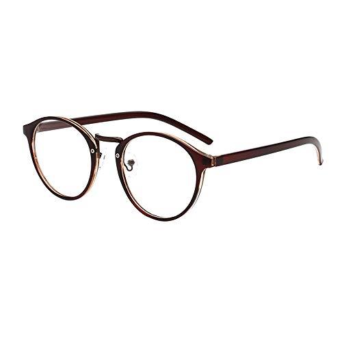 Dorical Damen Brille, Frauen Mode Unisex Klassisch Metall Rahmen Spiegel Gerundet Gläser Sale(C)