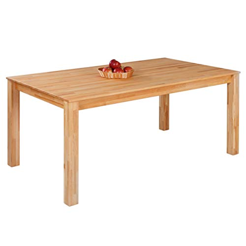 Krokwood Bonn Massivholz Esstisch in Buche 160x90x75 cm FSC 100{0c311d9a20db390de98d8aed3ca9438c1ab7c6789c067dd5c0c5442fe69856d5} massiv Tisch geölt Buchenholz Esszimmertisch für Küche praktischer Küchentisch fester Holztisch vom Hersteller und kostenlose Lieferung