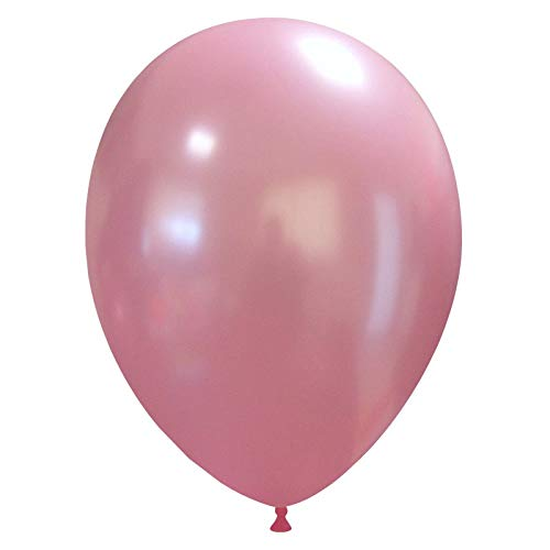eventkauf 50 kleine Luftballons metallic/Pastell (Farbe wählbar) (Rosa, metallic)