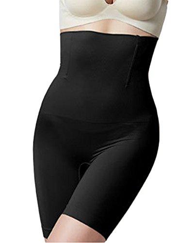 Yonglan donna guaina contenitiva vita alta dimagrante mutanda contenitiva pantaloncino snellente nero xl