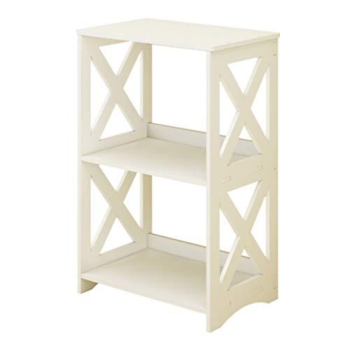 QIANGDA Bücherregal Bücherschrank Bodenständig Einheit Kabinett Lager Veranstalter Standregale, Weiß, 38X24X60CM -