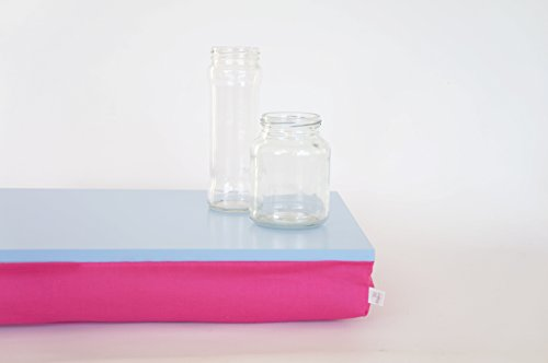 serving-tray-with-pillow-laptop-lapdesk-computer-stand-light-blue-tray-with-bright-pink-fuchsia-pill