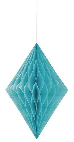 Unique Party - 62983 - Diamant Décoratif en Papier de Soie - 35 cm - Turquoise