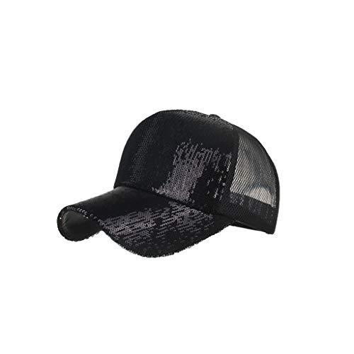 Unisex Baseball Cap Dasongff Mode Sommer Sonnenhut Kappe Mesh Hüte Hip Hop Caps Chic Pailletten Kappe Sport Mütze Schirmmütze Sun Hats (Captain America Winter Hut)